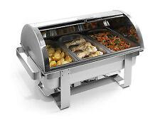 Hendi Gastro Chafing-Dish Rolltop 1/1 GN Set Brennpaste Speisewärmer NEU