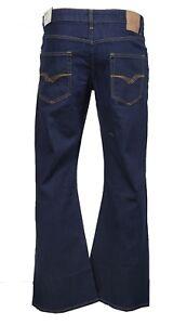 Men's LCJ Denim Super Flare Jeans Stretch Indigo Indie W 70s Bell Bottoms LC16