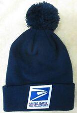 2e806d8b5e7 USPS Postal Service Navy Blue Beanie Hat Cap with pom pom