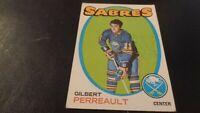 1971-72 Topps NHL Hockey #60 - Gil Perreault - Buffalo Sabres - 2nd Year - VG-EX