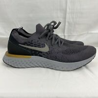 Nike Epic React Flyknit Running Shoes Thunder Grey  Men's Size 11 AQ0067-009 NEW