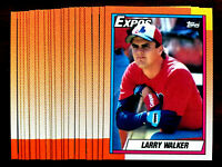 1990 Topps LARRY WALKER RC ~ 20 CARD LOT ~ R00KlE CARDS ~ HALL OF FAME INDUCTEE