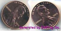 2004 P & D Lincoln Cent 2 coin Gem Bu from mint sets