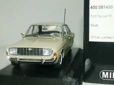 WOW EXTREMELY RARE Ford Taunus P5 20m V6 Saloon 1967 Beige 1:43 Minichamps-GT/RS