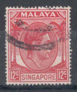 SINGAPORE 1952 KGVI 12c USED (ID:875/D57806)