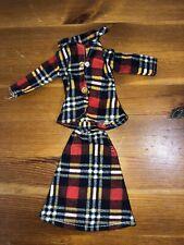 VINTAGE 1970's SINDY tartan Outfit