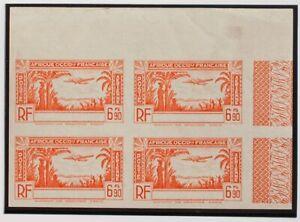 Coast Of Beige, Aéreo. MNH Yv 5ab (4) .1940. 6´90 F Orange, Block Of Four