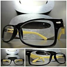 VINTAGE Style READING EYE GLASSES READERS Black & Bamboo Wood wooden Frame +1.50