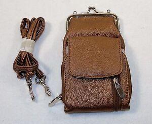 Faux Leather/Lame Wallet, Coin Purse, Cigarette Case ~ Metallic Colors NEW