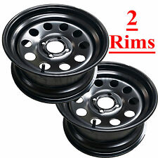 2 Zero Turn Lawn Mower Garden Tractor Go Kart RIM WHEEL 14x8 4/4 Mat Black Steel