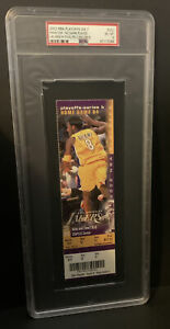 2002 NBA PLAYOFFS GAME 7 UNUSED TICKET Kobe Bryant PSA 6 PHANTOM TICKET RARE