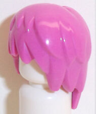 Lego Layered Wig x 1 Hair Dark Pink for Minifigure