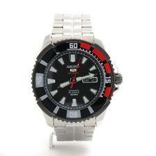 Seiko Analog Black 5 SPORTS 100m Diver SRP207K1 NEW watch Box Papers