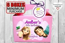Tangled / Rapunzel party box / bag. Birthday parcel. With tags or without
