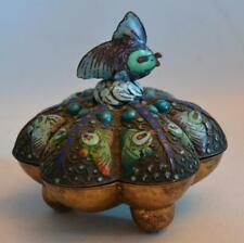 Vintage 1920s Chinese Silver and Enamel Box