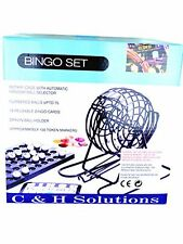 Big Cage Deluxe Bingo Set , Complete Bingo Game Set, Rotary Cage With Automatic