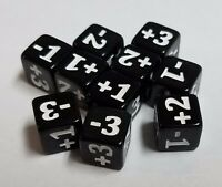 10x Black Minimalist Counter Dice for Games Like Magic: The Gathering | 10mm CCG