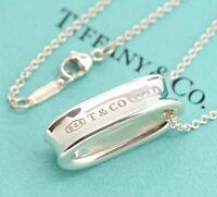 TIFFANY&Co 1837 Hoop Pendant Necklace Silver 925 w/BOX v1053
