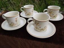 4 Marks & Spencer Harvest Cups & Saucers