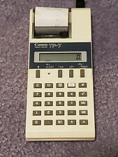 Vintage Canon TP-7 Electronic Pocket Printer Calculator w/ POWER SUPPLY