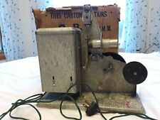 Vintage Q.R.S. DeVry Corporation 16mm Model 12 Hand Crank Projector c. 1930s