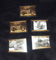 Lot of 5 Harley-Davidson Motorcycle Cards - 1992 Collect-A-Card