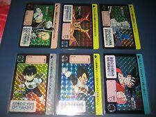 DRAGON BALL Z CARDDASS PART 6 FULL SET 6 PRISMS CARDS SET