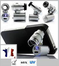 Microscope grossissement X60 avec sa coque pour Pour Iphone 4 ou 4S-LED ET UV