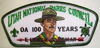 TU CUBIN NOONIE 508 UTAH NATIONAL PARKS UT CSP FLAP 2015 OA 100TH PATCH 250 MADE