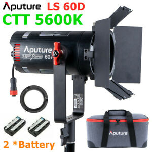 Aputure LS 60d 60W Led Video Light COB balanced Daylight CTT 5600K Barndoor Kit