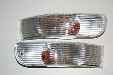 Genuine Porsche 911 993 Two Clear Euro Turn Signal Lights NEW R + L 1994 - 1998