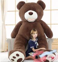 78'' Giant Huge Big Teddy Bear Plush Soft Toys Stuffed Doll Brown Bear Xmas Gift