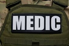 "3x8"" MEDIC Black White Hook Morale Vest Patch POLICE MILITARY CONTRACTOR CHP CCW"
