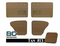 Door & Quarter Panel Set w/ Clips VW Volkswagen Bug Beetle Tan Smooth Vinyl