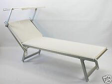 Sonnenliege / Liegestuhl weiß - Alu - Obere Klasse