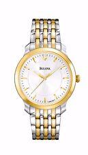 Bulova Ladies Dress Quartz Gold and Silver Tone Bracelet 32mm Watch 98L160