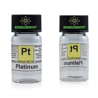 PT Platinum Metal Element 78 Sample 0 3/8in Wire 99,99% in Labeled Glass Vial