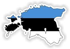 Sticker Silueta Estonia Mapa Bandera Para Parachoques Guitarra Patineta Locker Tablet