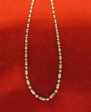 WHOLESALE LOT OF 50 14 KT GOLD EP FANCY 18 INCH MILITARY STYLE CHAIN NECKLACES