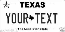 Texas 2012 License Plate Personalized Auto Car Custom VEHICLE OR MOPED