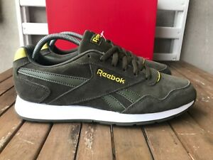 Reebok Royal Glide Suede Khaki Green Poplar Mens Retro Classics Trainers NEW