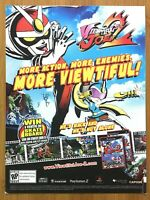 Viewtiful Joe 2 Gamecube PS2 2003 COVER-STOCK Print Ad/Poster Official Art Rare!