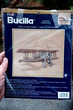 Unstarted Counted Cross Stitch Kit - Bucilla - Antique Airplane