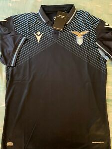 ITALY SS LAZIO Dark Blue Soccer JERSEY All Sizes  Made by Macron
