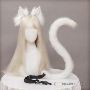 Cat Ears Cat Tail Cosplay Jewelry Hand-Made Simulation Animal Ears Headband Tail