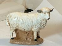 "Sheep Ewe Ceramic Figurine  Could be Nativity or 4"" x 3 3/16"""