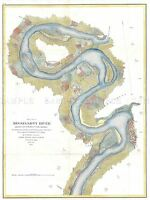 GEOGRAPHY MAP ILLUSTRATED ANTIQUE USCS MISSISSIPPI RIVER POSTER PRINT BB4503A