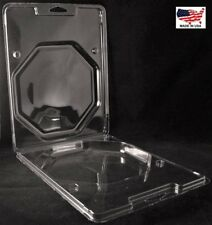 "Clear Plastic Clamshell Packaging Containers 8-7/8""H x 7""W x 1-1/4""D(Box of 102)"