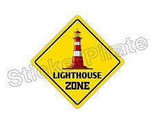 "*Aluminum* Lighthouse Zone Funny Metal Novelty Sign 12""x12"""