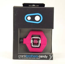 Crank Brothers Candy 1 Clipless Bike XC Trail Pedals & Cleats Bros MAGENTA/PINK